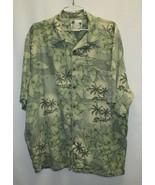 Banana Cabana 100% Silk Shirt Wooden Buttons – Men's XXL - $19.79