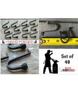 "48 Wrought Iron 2"" Hammer In Hooks - Amish Handmade Antique Nail Hook Ha... - $73.47"