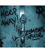 Keep Away-Turn Back-ZOMBIE INSIDE-DOOR COVER-Walking Dead Horror Prop De... - $3.30