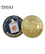 US Central Intelligence Agency Coin Colorful Gold Plated Coin CIA Challe... - $5.50