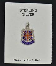 NEW Vintage Union Jack UK National Flag Enamel Shield Charm Sterling Silver 925 - $16.16