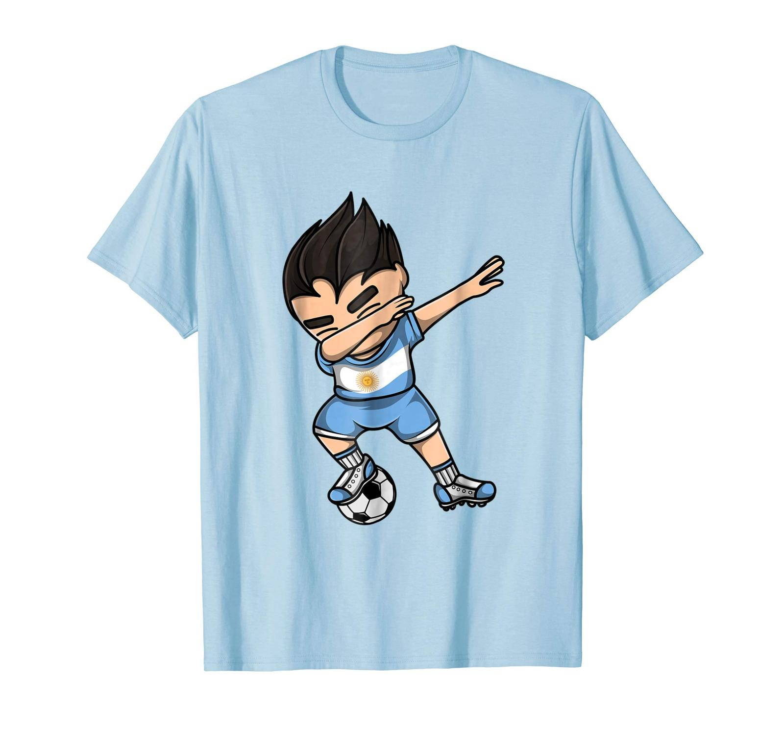 Primary image for Dad Shirts - Dabbing Soccer Argentina Jersey Shirt - Argentinian Football Men