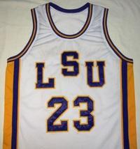 Pete Maravich Lsu Tigers White College Jersey Any Size Free Wwjd Bracelet - $29.99