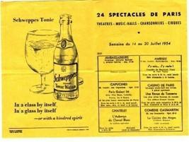 Spectacles De Paris 1954 Night Clubs & Theatres in Paris France - $11.88