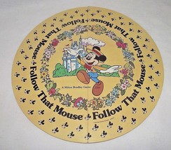Follow that Mouse Game Replacements Board Disney World Mickey Mouse 1986 Round - $12.86
