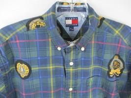 Tommy Hilfiger Boy'S Size M 100% Cotton Short Sleeve Plaid Button-Front ... - $20.80
