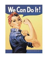 Rosie The Riveter World War II Ad Tin Sign Reproduction, NEW UNUSED - $5.94