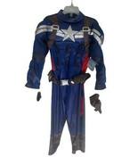NEW Disney Store Boys Captain America Costume Size 4 Muscle Suit - $30.84