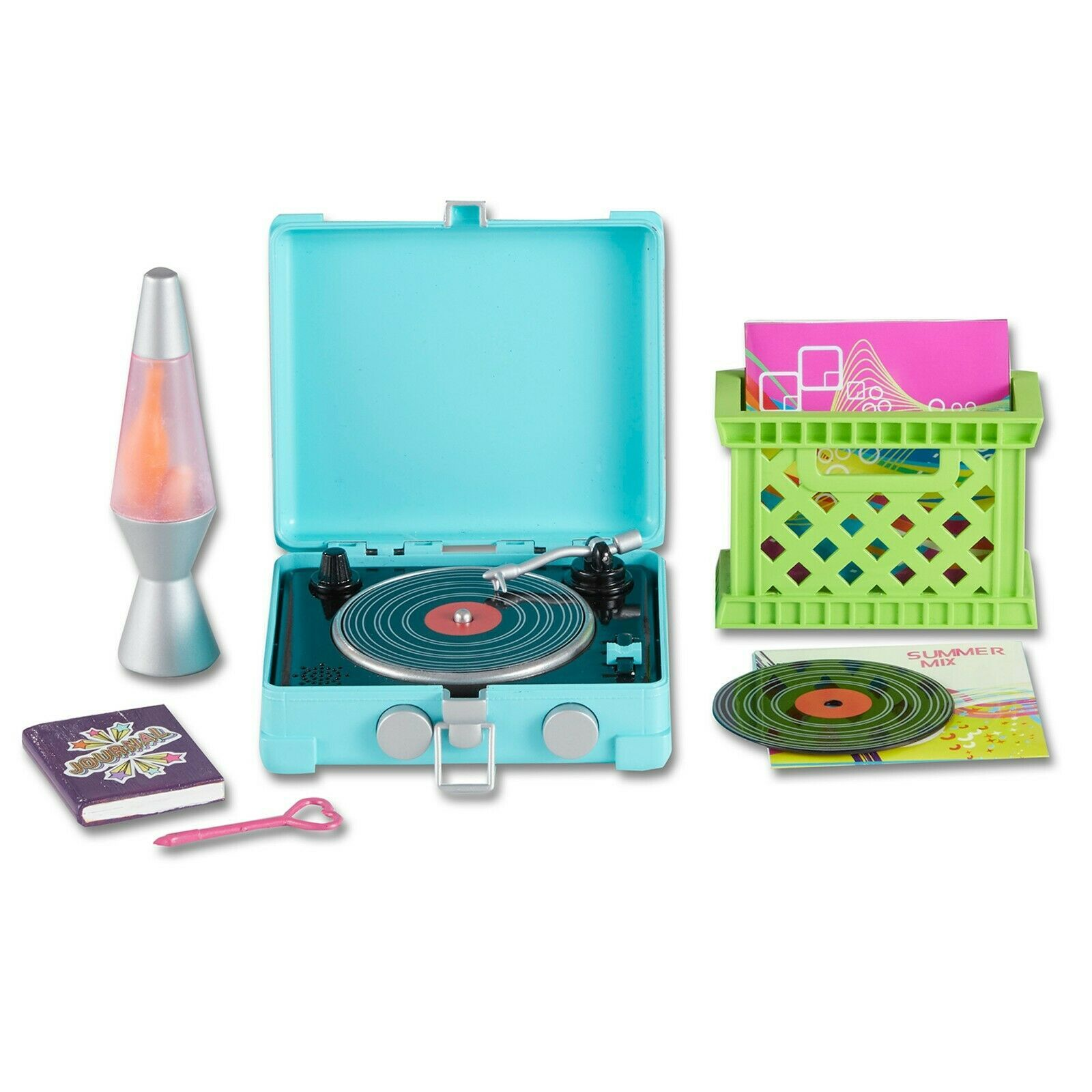 """My Life As Trendy Retro Set with Lava Lamp, Record Player, and More for 18"""" Doll - $14.99"""