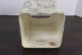 Vintage Silver Handmade Capiz Shell Tissue Box Cover Holder Mid Century Regency image 4