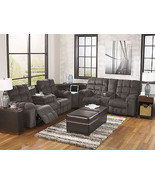 MARINO - Modern Gray Chenille Reclining Sofa Sectional Set Living Room F... - $1,978.77