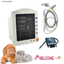 Portable Veterinary Patient Monitor Multi-parameter ICU Vital Signs Moni... - $192.25