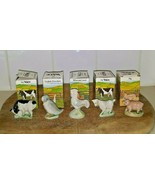 WADE WHIMSIE-LAND SET #3 FARMYARD Vtg 1985 COMPLETE Series of 5 with BOXES  - $98.99