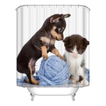 2017 New Arrive2017 Cute Funny Animal Polyester Shower Curtain Waterproof Durabl - $31.75