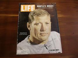 MICKEY MANTLE # 7 NEW YORK YANKEES HOF SIGNED AUTO 1965 LIFE MAGAZINE JS... - $593.99