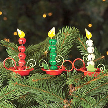 Hand Crafted Metal Jingle Bell Candle Clip-On Christmas Ornaments - Set ... - $13.50
