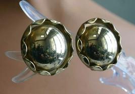Elegant Mid Century Modern Gold-tone Round Clip Earrings 1960s vintage 1... - $12.30