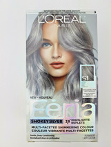L'Oreal Paris Feria Smokey Silver Hair Color S1 For Blondes Grey IN STOC... - $12.84