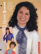 5 Novelty Scarves HoWB #127140 Knitting Pattern Leaflet - $2.67