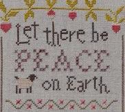 Let There Be Peace cross stitch chart Shakespeare's Peddler