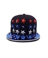 Star Patterned Men Women Baseball Cap Snapback Hip-Hop Adjustable star Cap - £8.64 GBP