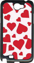 Valentine's Pink and Red Heart Collage Samsung Galaxy Note II 2 Hard Case Cover - $13.95