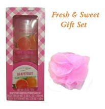 Bath and Body Fresh & Sweet 3 Piece Gift Set  ~Grapefruit~ Body Wash / B... - $9.85