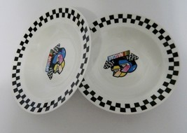 Nascar Victory 2 Soup Bowls marketed by Gibson 2002 Licensed by Nascar - $12.75