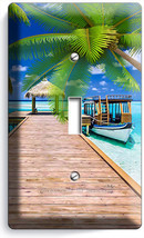 Caribb EAN Sea Palms Pier Boat 1 Gang Light Switch Wall Plate Bathroom Home Decor - $8.99