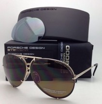 PORSCHE DESIGN Titanium Aviator Sunglasses P'8478 A 63-10 Gold Frame+2 Lens Sets