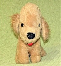 "10"" Vintage ANIMAL FAIR Puppy LABRADOR Dog Tan Red Tongue Collar Plush 1... - $37.62"