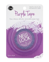 "Purple Easy Release Tape. Removable. For Stencils, Dies, Etc. 1.5"" Wide"