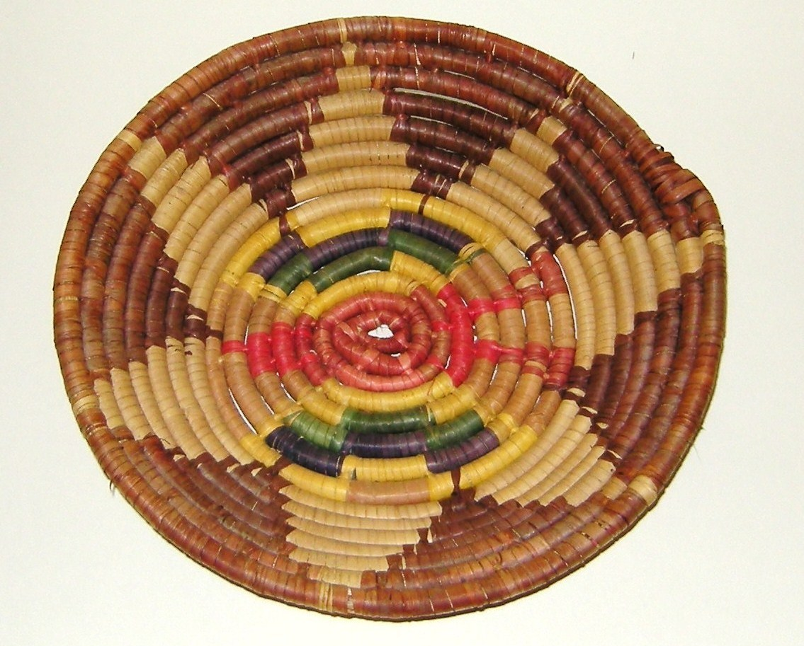 Navajo Native American Indian Coiled Ceremonial Basket