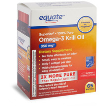 Equate Superior Omega-3 3 Krill Oil 350 mg, 65 ct SoftgelS. - $26.72