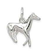 Sterling Silver Horse Charm (Length=20) (Width=19) [Qc1781] - $17.87