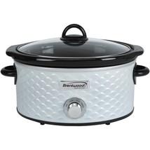 Brentwood Appliances SC-140W 4.5-Quart Scallop Pattern Slow Cooker (White) - £47.96 GBP