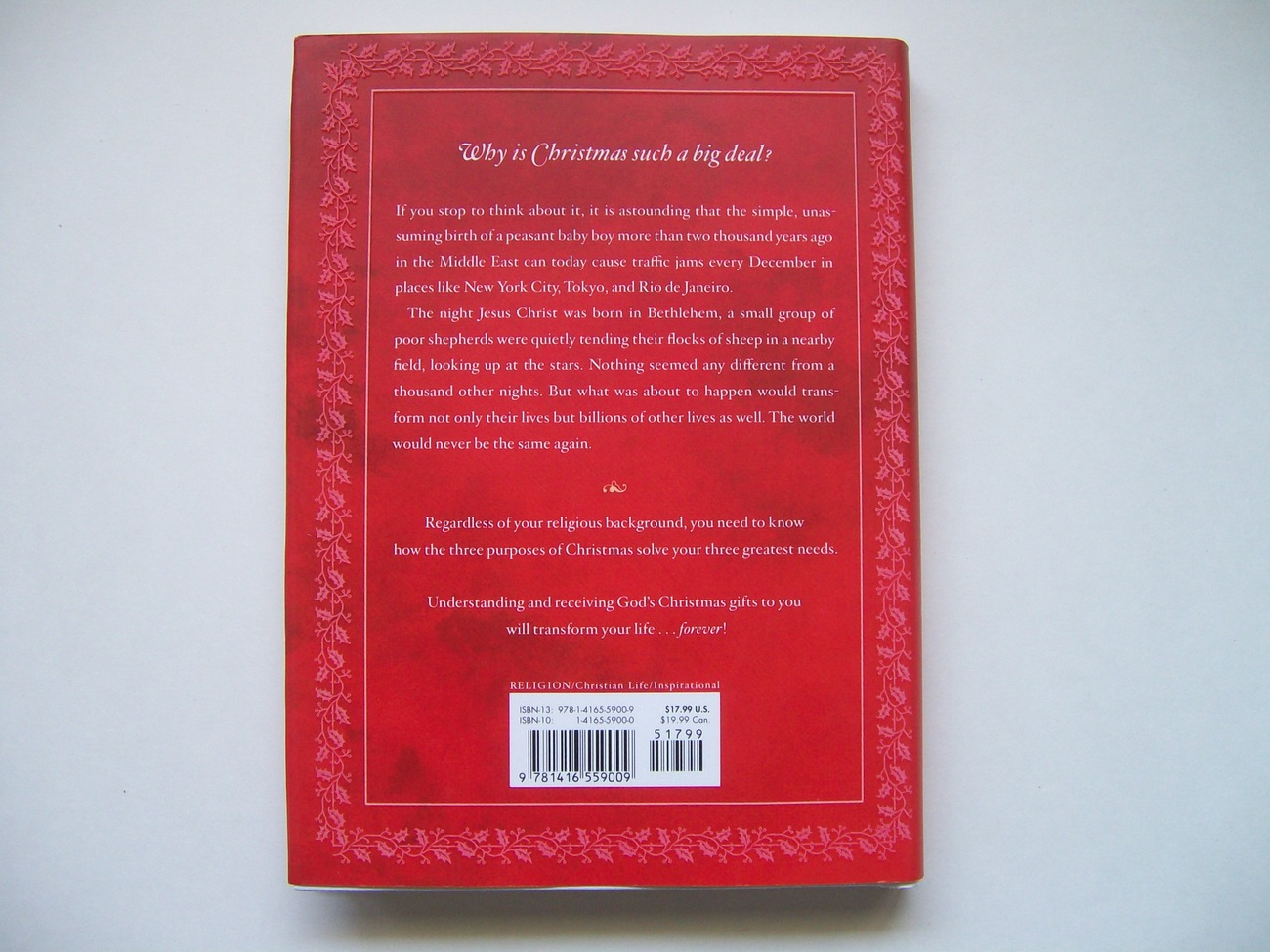 The Purpose Of Christmas By Rick Warren Hardcover First
