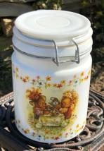 Vintage Hallmark's Houston Harvest Teddy Bear Tea Party  Canister, Milk ... - $16.78