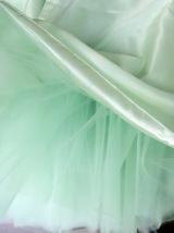 Mint Green Tulle Midi Skirt Ballerina Tulle Skirt Plus Size Knee Length image 4