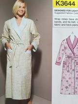 Kwik Sew Sewing Pattern 3644 Misses Ladies Robes Size XS-XL New - $14.85