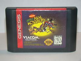 Sega Genesis - Nickelodeon Aaahh!!! Real Monsters (Game Only) - $10.00