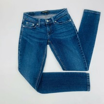 Levis 524 Womens Jeans 1 Short Blue Too Superlow Skinny Stretch Medium W... - $51.29