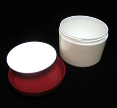 Cosmetic jar Plastic Beauty Cream Container Red Dome Lid 7.5 oz 225 ml 1... - $29.95