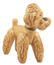 SylvaC Falcon Ware beige standing poodle dog fi... - $28.00