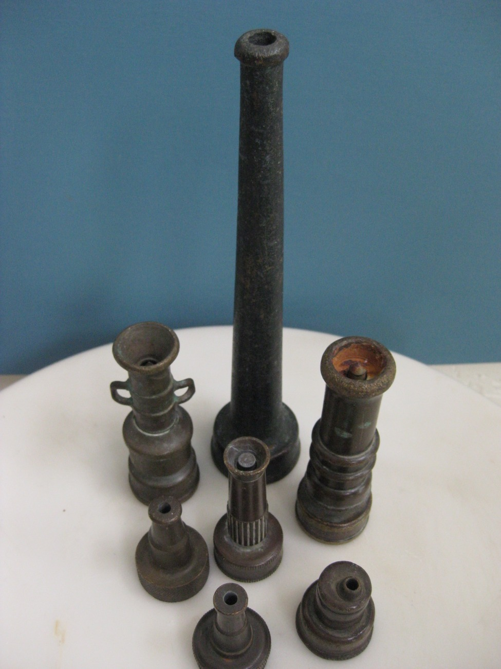 Antique American Water Nozzle Collection c 1920 - 1950