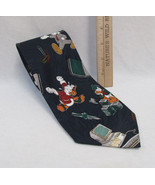 Disney Mickey Unlimted Mens Neck Tie Blue Mouse Goofy Donald Going to Wo... - $9.89