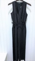 $325.00 Lauren Ralph Lauren Pinstripe Sleeveless Jumpsuit Black/Cream  S... - $42.00