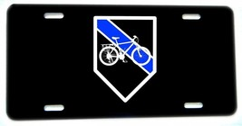 Thin Blue Line Bicycle Bike Patrol Unit Aluminum License plate - $13.81