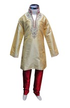 Boys Indian Sherwani kurta with contrast churidar for Bollywood party th... - $35.00