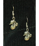 Metal Cherry Dangly Rockabilly Gothabilly Earrings made with Nickel Free... - $5.40